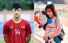 Chẳng riêng bạn gái Văn Hậu, người yêu của nam thần Hoàng Đức cũng chiếm spotlight khi ra sân cổ vũ bạn trai