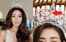 """Các """"thánh soi"""" phát hiện Hoa hậu Khánh Vân làm gãy vương miện chưa đầy 1 tuần sau đăng quang"""
