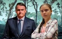 """Tổng thống """"phá rừng"""" Brazil buông lời xúc phạm Greta Thunberg: """"Loại nhãi con"""""""