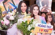Tân Hoa hậu Khánh Vân đón Hoàng Thùy trở về từ Mỹ lúc nửa đêm sau thành tích Top 20 Miss Universe