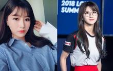"""Say đắm với nhan sắc """"thánh nữ"""" MC Kim Su-hyeon của LCK"""