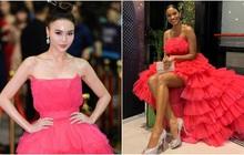 Hoa hậu Hoàn vũ 2011 Leila Lopes diện đầm của NTK Việt, đụng hàng ngay Ninh Dương Lan Ngọc cùng loạt người đẹp Vbiz