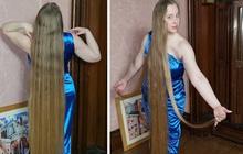 'Công chúa tóc mây' đời thực sở hữu mái vàng tóc dài 1,5m, mỗi lần gội đầu mất 10 tiếng mới khô