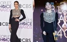 Một chiếc váy hai thái cực: Lee Young Ae nền nã, J.Lo thì không giấu nổi vẻ sexy bức người dù mặc khá kín đáo