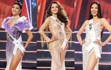 Top 10 thí sinh Hoa hậu Hoàn vũ tự tin sải bước catwalk điêu luyện, rực rỡ trong phần thi trang phục dạ hội