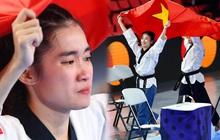 Các hotgirl Taekwondo bật khóc, vui mừng khôn xiết sau khi giành huy chương vàng cho đoàn thể thao Việt Nam tại SEA Games