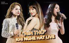 """Những màn hát live khiến khán giả """"nín thở"""": Chi Pu làm người nghe """"thót tim"""", Hương Ly gây sốc với giọng thật """"một trời một vực"""""""