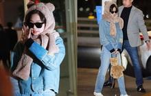 """""""Bé gấu"""" dễ cưng nhất hôm nay là Jennie, trùm kín từ đầu đến chân vẫn nổi bần bật nhất sân bay"""