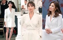 """Để trông sang như diện đồ hiệu dù lên đồ tiết kiệm, nàng công sở hãy học ngay """"thần chú"""" màu trắng của Song Hye Kyo"""