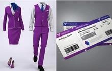 """Dân mạng lan truyền bộ nhận diện thương hiệu """"tím lịm tìm sim"""", nghi là màu chủ đạo của Hãng hàng không Vinpearl Air"""