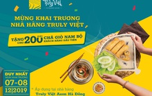 Hơn 400 phần quà miễn phí mừng khai trương 3 nhà hàng King BBQ Buffet, Meiwei, Truly Việt tại Aeon Mall Hà Đông