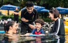 Gia đình Lan Phương cùng nhà Xoài, Đậu tham gia học bơi với VĐV bơi lội hàng đầu thế giới