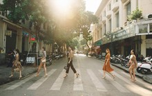 Bất ngờ khi những ngã tư đường Hà Nội được hô biến thành sàn catwalk