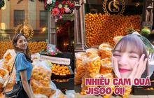 Lisa và Jisoo đăng hình xinh xẻo ở Thuỵ Điển, nhìn background tưởng cửa hàng trái cây nhưng hoá ra lại bán một thứ chả liên quan gì