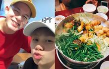 """Dương và Bảo hội tụ hậu """"Về nhà đi con"""" vào một ngày Hà Nội động mưa, ăn chả cá buổi trưa là quá hợp đây nè!"""