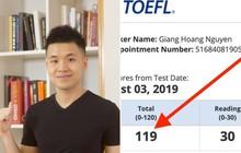 Chàng trai Việt trở thành một trong những người đầu tiên trên thế giới đạt 119/120 TOEFL định dạng mới, tương đương 9.0 IELTS