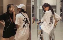 """Đi đâu cũng gặp, chiếc áo phông với logo to bự siêu cool ngầu này chính là item """"quốc dân"""" tại Hàn Quốc lẫn Việt Nam lúc này"""
