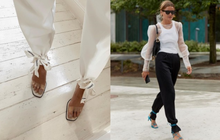 """Mặc quần dài thì che hết phần đẹp nhất của sandals, các tín đồ thời trang bèn nghĩ ngay ra cách """"sơ vin"""" cực hay này"""