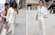 """Đụng hàng bộ """"đồ ngủ"""" giá 50 triệu, Hoa hậu Priyanka Chopra thua xa bà Beck về cách mix đồ và thần thái"""