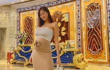 Ôm bụng bầu 6 tháng, MC Phương Mai khiến fan lo lắng vì vẫn đi giày cao gót, diện đầm ôm sát khoe body nuột nà