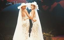 """Kỳ Duyên - Minh Triệu nắm tay nhau mặc váy cưới, fan nhà """"quýt"""" lại có dịp đẩy thuyền tới tận bến mới thôi"""