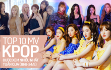 10 MV Kpop được xem nhiều nhất tuần: Một tân binh khủng vượt mặt cả BLACKPINK và Red Velvet, BTS tụt hạng