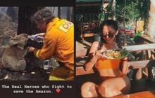 """""""Sao thị phi"""" liên tiếp chiếu thẳng girl xinh Cococheoli: Đăng story xót thương cháy rừng Amazon mà dùng lộn hình bên... Úc"""