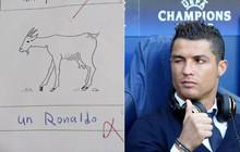 Cậu bé chấp nhận trượt môn tiếng Pháp để gọi Ronaldo là... con dê