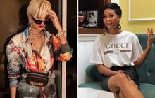 Từng là Hoa hậu tiết kiệm nhất Vbiz với giày 80k và áo phông đi mượn, giờ H'Hen Niê đã quen thuộc với việc dát đồ hiệu lên người