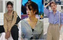 Có một kiểu áo sơ mi đang rất được lòng các sao nữ xứ Hàn: Diện lên trẻ trung, thu gọn vóc dáng và hơn thế nữa