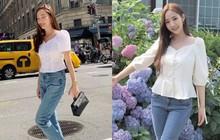 """Tái hiện set đồ Park Min Young diện từ 1 năm trước, Jessica hơn """"thư ký Kim"""" về độ trẻ trung nhưng lại thua về độ gợi cảm"""