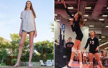 """Cô gái mới 16 tuổi đã sở hữu chiều cao khủng, đôi chân dài kỷ lục 1,34m khiến ai cũng phải trầm trồ """"chân dài tới nách"""" là có thật"""