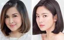 """Vừa cắt tóc, """"mẹ 3 con đẹp nhất Philippines"""" khiến dân tình ngỡ ngàng vì quá giống Song Hye Kyo"""