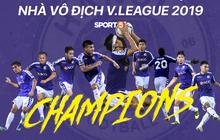 Chiến thắng SLNA, Hà Nội FC chính thức lên ngôi vô địch V.League 2019