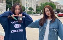 Loạt ảnh quay show mới của chị em Jessica – Krystal: Khí chất đại tiểu thư ngút ngàn tại trời Tây