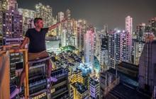 Leo lên loạt tòa nhà cao nhất Hong Kong để chụp hình sống ảo, chàng trai bị dân mạng chỉ trích: Chán sống rồi hả?