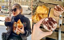 """Trời, ăn uống với Kỳ Duyên bây giờ là ở """"level đam mê"""" rồi: sang Pháp ăn bánh ngọt thôi mà đăng tận 8 cái story, 10 bức hình để khoe!"""
