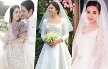 """Bóc giá váy cưới cô dâu mới nhà trùm showbiz Hong Kong: """"Rẻ tiền"""" nhất Cbiz, kém xa Song Hye Kyo, bị Angela Baby đè bẹp"""
