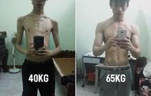 """Từng bị """"cắm sừng"""" vì quá gầy, chàng trai Quảng Ninh chia sẻ bí quyết tăng cân thành body sáu múi chuẩn chỉnh sau 1 năm"""