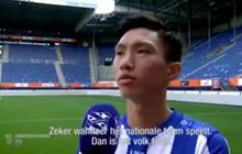 """Video phỏng vấn riêng đầu tiên của Văn Hậu với đội bóng mới: """"Tôi xem giải Hà Lan từ bé và biết đến Heerenveen lâu rồi"""""""