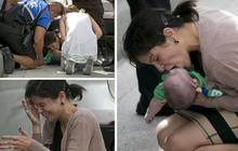 Câu chuyện xúc động phía sau bức ảnh người phụ nữ hô hấp nhân tạo cho đứa bé sơ sinh giữa đường quốc lộ