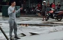 Đối tượng ngáo đá, cầm dao đuổi chém người qua đường