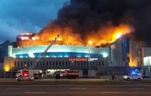 Cháy lớn thiêu rụi hơn 1000 mét vuông trung tâm thương mại ở Nga