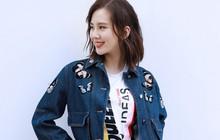 """""""Mẹ bỉm sữa"""" Lưu Thi Thi tái xuất showbiz: Béo lên đôi chút nhưng vẫn lên đồ trẻ trung như nữ sinh"""