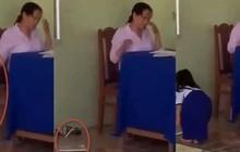 Chấm bài xong, cô giáo văng vở xuống nền gạch bắt học sinh lên nhặt