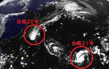 Hai cơn bão mới đang tiến tới Nhật