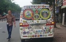 Dán logo cản trở tầm nhìn có thể bị từ chối đăng kiểm xe ô tô