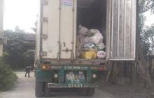 Bắt giữ xe container chở hơn 10 tấn nội tạng động vật bốc mùi hôi thối