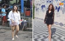 """Béo tới nỗi bị tưởng nhầm là có em bé, cô gái người Thái """"giảm một lèo"""" 24kg khiến ai nấy đều bất ngờ"""