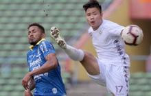 Trận đấu của Hà Nội FC trên đất Malaysia bị huỷ đột ngột chỉ sau 1 hiệp đấu